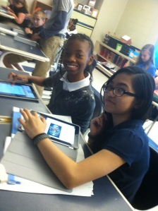 Exploring with the iPads at PWMS